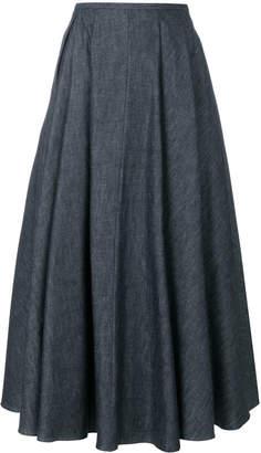 Rochas flared denim skirt