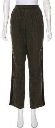 Kenzo High-Rise Satin-Trimmed Pants w/ Tags