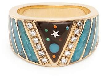 Jacquie Aiche Diamond, Opal & Yellow Gold Ring - Womens - Yellow Gold