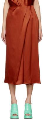 Mae Sies Marjan Orange Twist Skirt