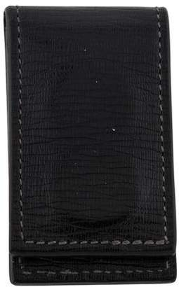 Salvatore Ferragamo Revival Leather Magnetic Money Clip
