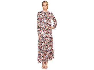 Love Moschino Ankle Length Floral Zip Neck Dress Women's Dress