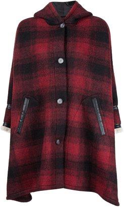 Mm6 Maison Margiela hooded check oversize coat $1,145 thestylecure.com