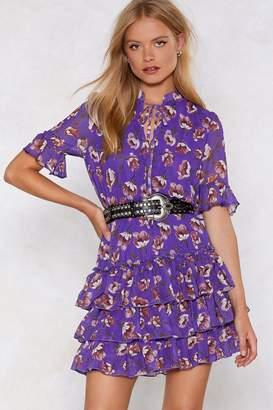Nasty Gal Love My Way Ruffle Dress