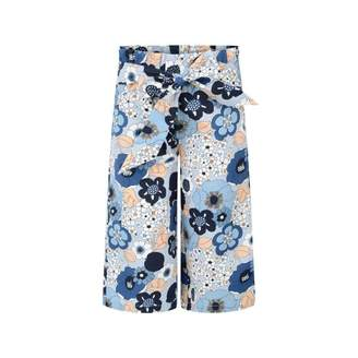 Chloé ChloeGirls Blue Floral Flared Trousers