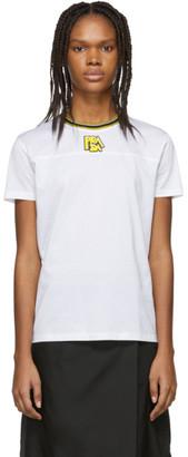 Prada White and Yellow Logo T-Shirt