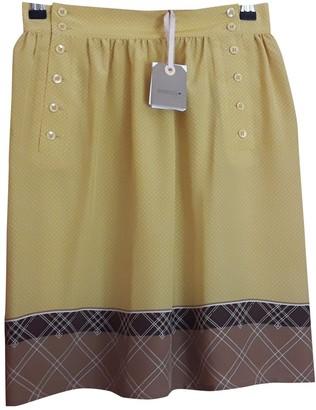 Sessun Yellow Silk Skirt for Women