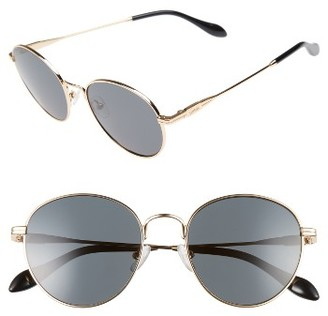 Women's Sonix Ace 51Mm Round Sunglasses - Gold Wire/ Black Solid $98 thestylecure.com