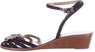 Marc JacobsMarc Jacobs Embellished Wedge Sandals