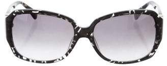 Diane von Furstenberg Printed Gradient Sunglasses