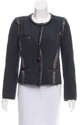 Etoile Isabel Marant Lurex-Trimmed Collarless Jacket