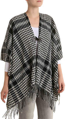 Kelly & Katie Houndstooth Poncho - Women's
