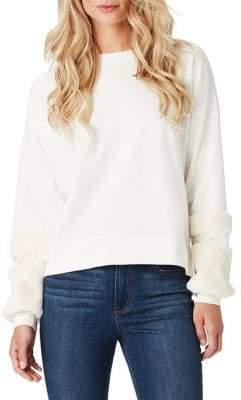 Jessica Simpson Molly Faux Fur Cuff Pullover