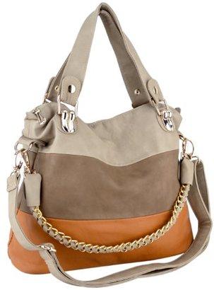 MG Collection Ece Tri-Tone Hobo Handbag $70 thestylecure.com