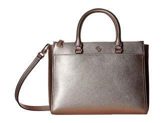 Tory Burch Robinson Metallic Small Double Zip Tote
