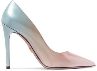 Prada - Ombré Patent-leather Pumps - Pink $805 thestylecure.com