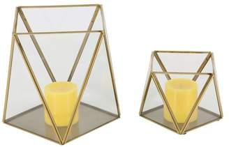 Brimfield & May Modern Geometric-Shaped Iron Candle Holders, 2-Piece Set