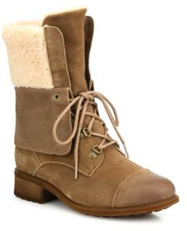 UGG Gradin Suede Lace-Up Boots $200 thestylecure.com