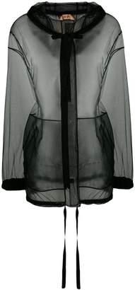 No.21 sheer hooded jacket
