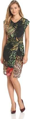 Desigual Women's Plisiland Sleeless Dress, Green