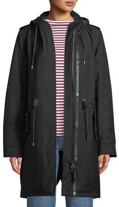 Mackage Renina Two-in-One Down-Filled Anorak Coat w/ Rain Shell