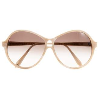 Victoria Beckham Beige Plastic Sunglasses