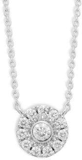 Kwiat Diamond 18K White Gold Bezel Pendant Necklace