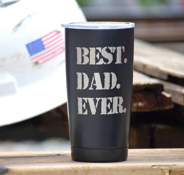 Etsy BEST DAD EVER Engraved Tumbler - Personalized Cup - Laser Engraved Coffee Cup - Personalized Tumbler
