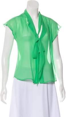 Marc Jacobs Silk Sleeveless Top green Silk Sleeveless Top