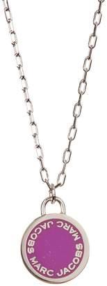 Marc Jacobs Enamel Logo Disc Pendant Necklace