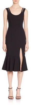 Black Halo Jeera Ruffle Hem Midi Dress $375 thestylecure.com