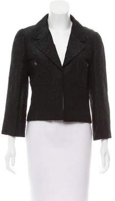 Chanel Textured Silk-Blend Blazer