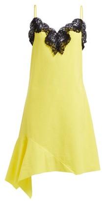 Marques Almeida Marques'almeida - Asymmetric Cotton Poplin Dress - Womens - Yellow