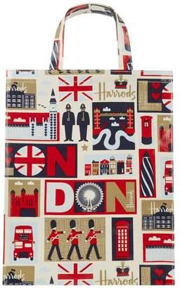 Harrods Medium Iconic London Shopper Bag