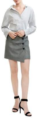 Maje Raime Stripe & Plaid Dress
