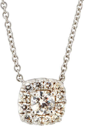 Diana M. Jewels 14k White Gold Round Diamond Pendant Necklace, 1.0tcw