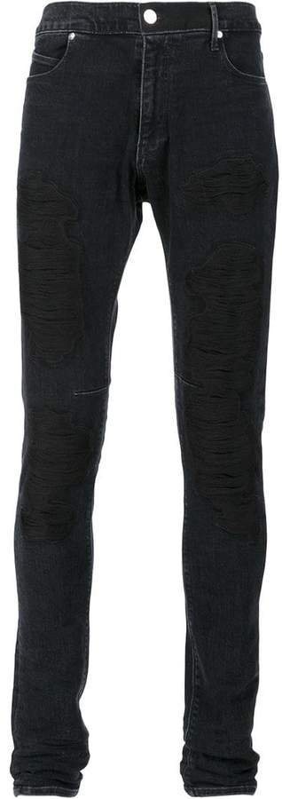 RtA embroidered skinny jeans