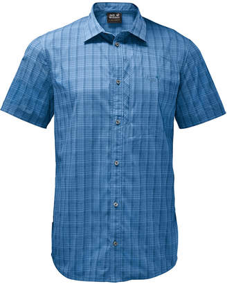 Jack Wolfskin Men's Rays Check Stretch Vent Short-Sleeve Shirt from Eastern Mountain Sports