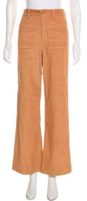 Ulla Johnson Corduroy High-Rise Wide-Leg Pants