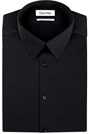 Calvin Klein Men's Non Iron Slim Fit Solid Dress Shirt