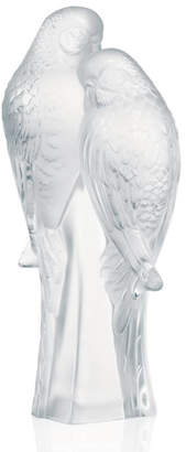 Lalique Two Parakeets Figure