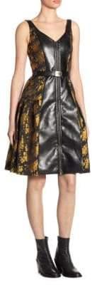 Alberta Ferretti Metallic Floral Dress