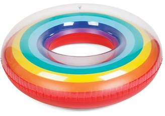 Sunnylife Rainbow Inflatable Pool Ring $28 thestylecure.com