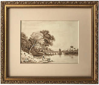 One Kings Lane Vintage 19th-C. English Watercolor Landscape