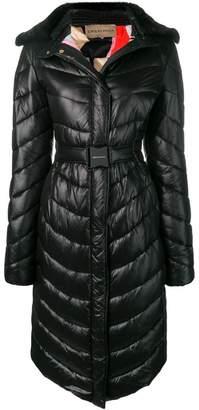 Emilio Pucci Fur Collar Quilted Coat