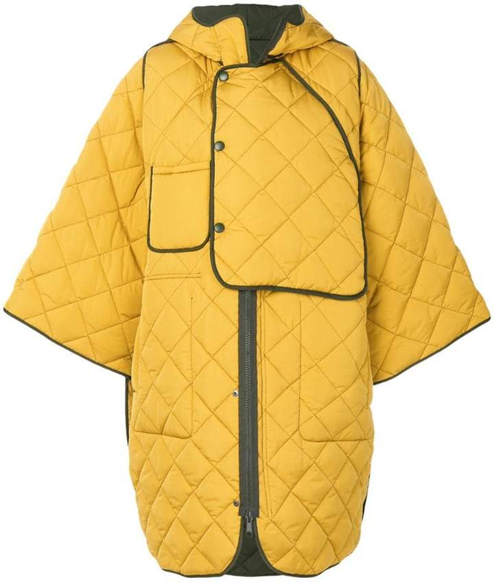 quilted oversize coat