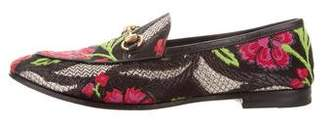 Gucci Floral Brocade Loafers