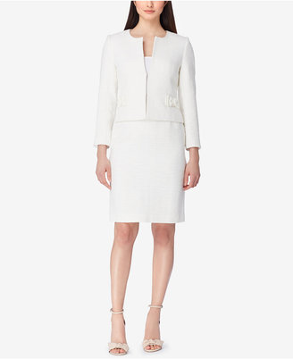 Tahari Bow-Trim Tweed Skirt Suit $300 thestylecure.com