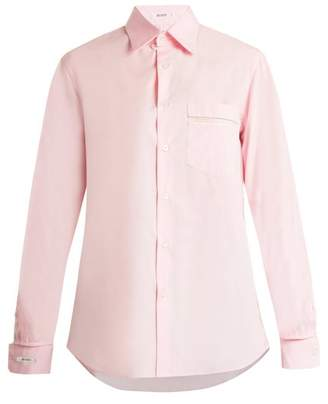 Blouse - George Lace Trimmed Poplin Shirt - Womens - Light Pink