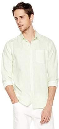 Isle Bay Linens Men's Long Sleeve Paisley Prints Woven Slim Hawaiian Shirt XL